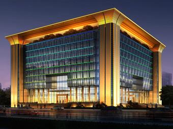 【湖南】宁乡大学科技创新基地二期综合楼泛光雷竞技app下载苹果