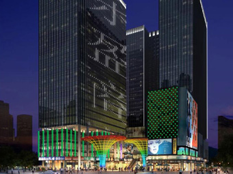 【湖南】长沙东盈商业广场楼体雷竞技raybet官网
