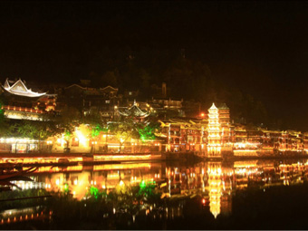 【湖南】凤凰古城夜景和记官方网页工程