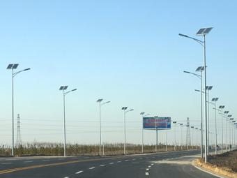 【内蒙古】上海庙镇太阳能路灯工程
