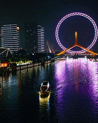 河道夜景照明